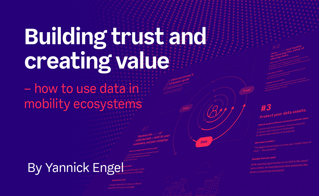 Building trust and creating value – how to use data in mobility ecosystems