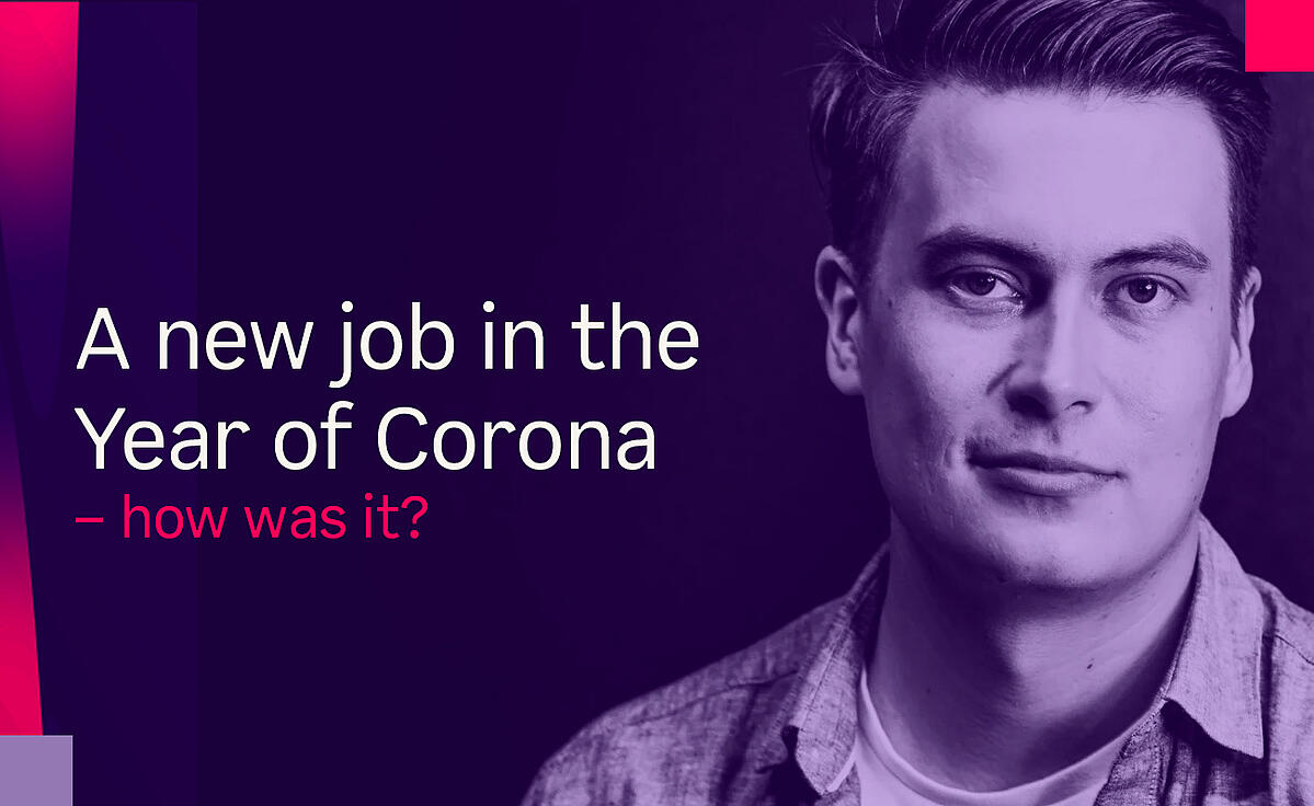 A new job in the year of corona