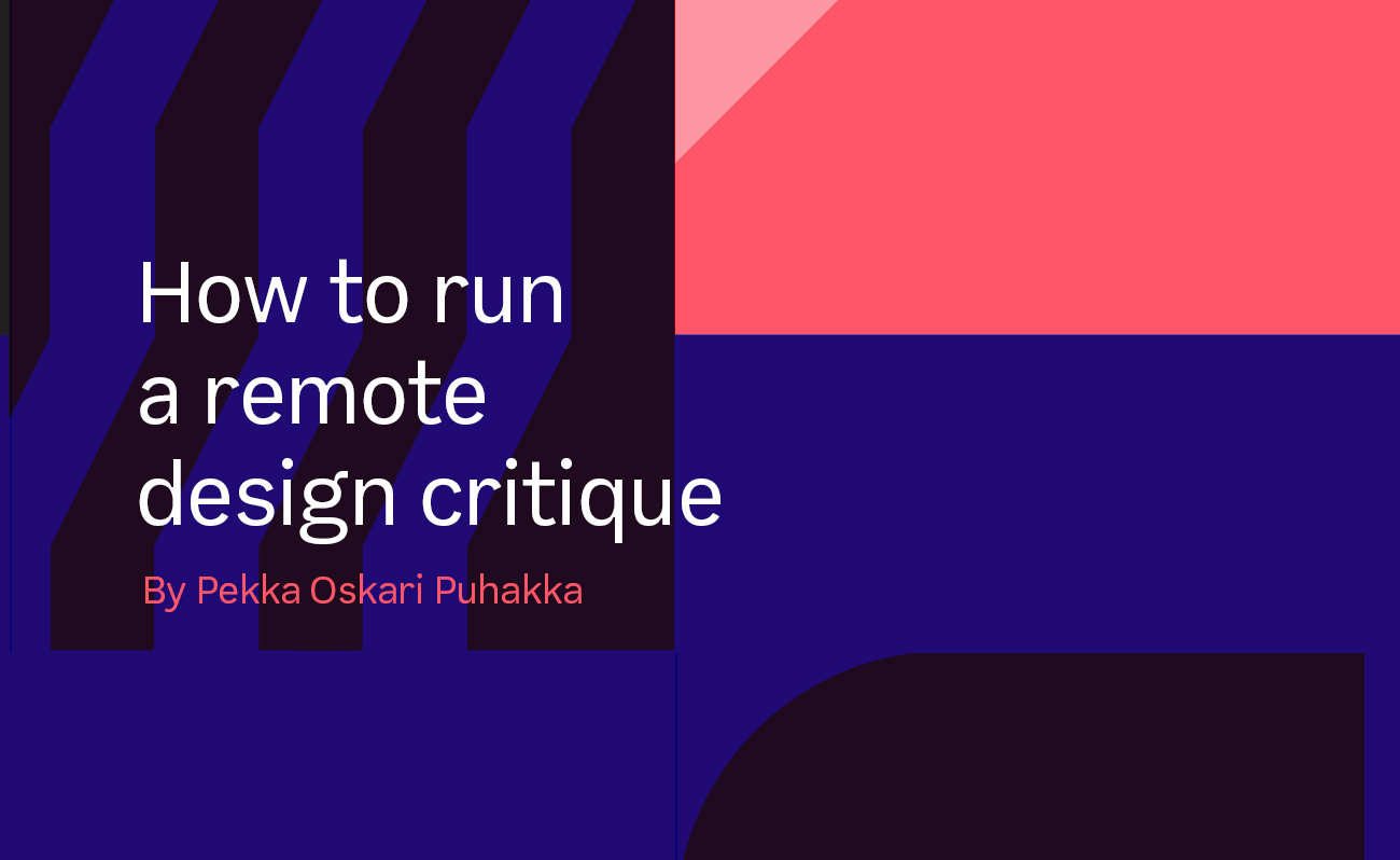 How to run a remote design critique