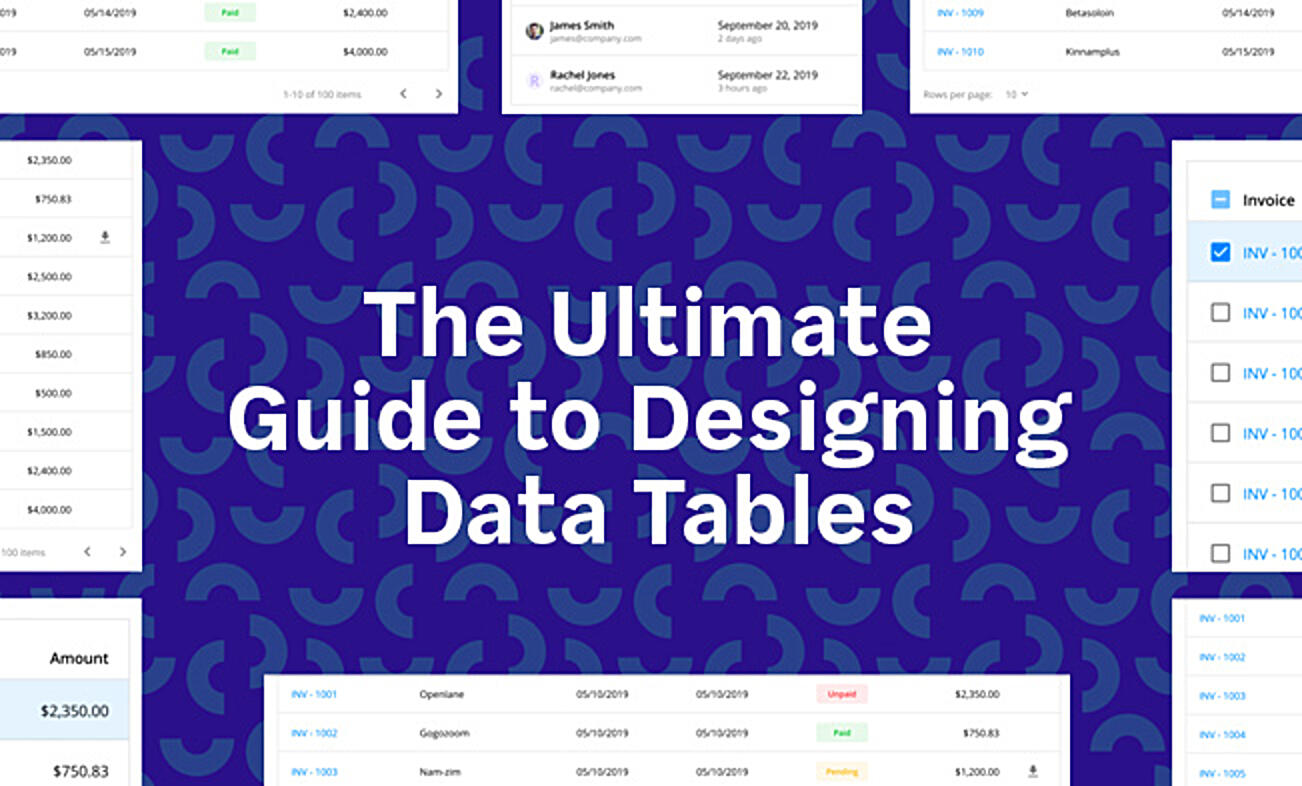 ultimate guide to designing data tables